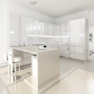 modern white kitchen interior design_Decorators Home 4